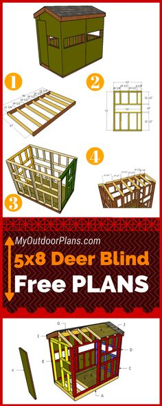 This step by step diy woodworking project is about hunting blind plans. I have designed this small hunting stand so you can build one in one weekend using common materials and tools. This deer stand is sturdy and it has enough space for two persons. Whitetail Deer Hunting, Deer Hunting Tips, Coyote Hunting, Pheasant Hunting, Archery Hunting, Hunting Videos, Hunting Gear, Hunting Ground Blinds, Duck Hunting Blinds