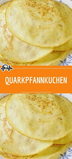 Quark pancakes 😍 😍 😍 - Rezepte - For Life Food Homemade Recipe Books, Easy Homemade Recipes, Homemade Desserts, Easy Cake Recipes, Homemade Cakes, Baking Recipes, Greek Yogurt Pancakes, Cream Cheese Pancakes, Easy Meals For One