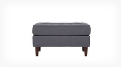Fiona Tufted Leather Storage Ottoman With Its Handsome Tufted Leather Top And Ample Storage