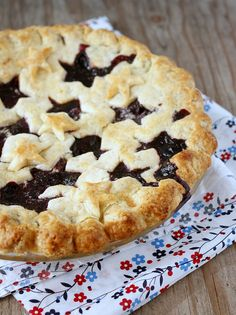 Homemade blueberry pie; yum! One of the best parts of country life? The delicious baking!