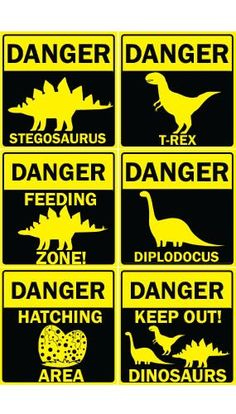 Danger Dinosaurs PVC Party Sign Decorations x – Pack of 6 Girl Dinosaur Birthday, Dinosaur Party, Birthday Party At Park, Boy Birthday Parties, Jurassic Park Party, Dinosaur Images, Baby Kind, Party Signs, T Rex