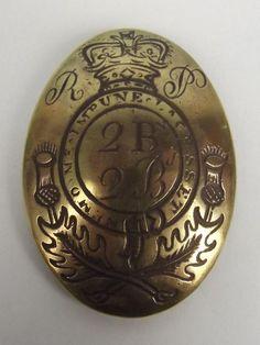 Early Victorian Royal Highlanders Cross Belt Plate