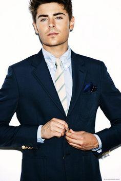 Zac Efron suit & tie