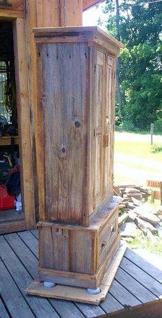 western barn wood houses | ... .com/signature-series-rustic-barn-wood-gun-cabinet/by/paulsgreenbarn