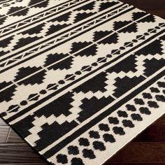 Surya Frontier Territory Feather Gray/Black Hand Woven Rug – Zinc Door