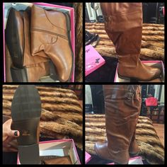 NWT. Tan beige Knee high boots. New in box. Run slight small. More like 9 1/2. Tan. Beige. Knee high boots Shoes