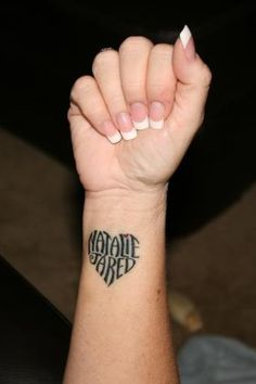 I really think I wanna do this with morgans name or something similiar....