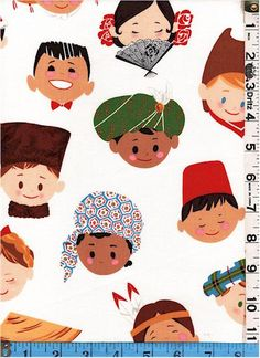 Fabric Alexander Henry Smiles Around the World by fabricsmart