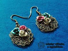 wiosenne druciane kolczyki wire crochet