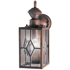 Buy the Heath Zenith Rustic Brown Direct. Shop for the Heath Zenith Rustic Brown Single Light High Outdoor Wall Sconce - Motion Sensor Activated and save. Garage Lighting, Barn Lighting, Outdoor Wall Lighting, Exterior Lighting, Wall Sconce Lighting, Wall Sconces, House Lighting, Wall Lamps, Lighting Ideas