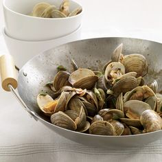 Clams with Pork and Golden Garlic // More Terrific Pork: http://www.foodandwine.com/slideshows/pork #foodandwine