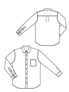 mens chambray shirt pattern