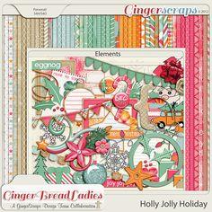 GingerScraps :: Kits :: Holly Jolly Holiday {collab}