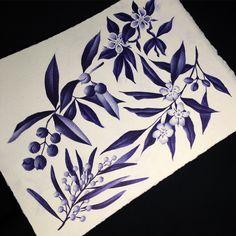 #Botanical pieces ballpoint pen A4. Repin and follow!