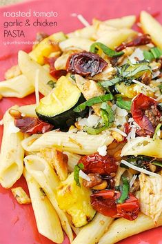 Roasted Tomato, Garlic and Chicken Pasta