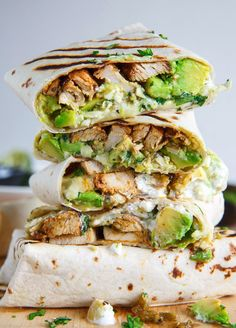 verticalfood:   Chicken and Avocado Burritos | Pretty In Lilly