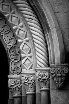 Four Arches// The Smithsonian castle Washington D. by Inge Johnsson Romanesque Art, Romanesque Architecture, Church Architecture, Architecture Details, Amazing Architecture, Steinmetz, Architectural Elements, Byzantine, Sculpture