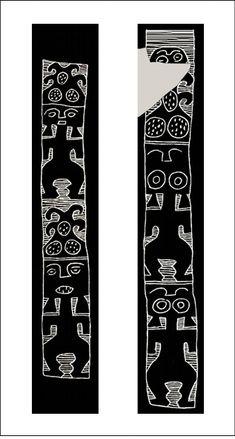 Estudios atacameños - Dominios y recursos de la imagen: Iconografía cerámica del valle de Ambato Side Window, Arte Popular, Latin America, Paint Designs, Henna, Feels, Symbols, Tattoo, Patterns