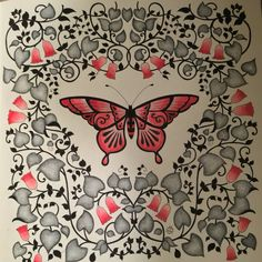 Johanna Basford magical jungle butterfly Colored with Prisma pencils