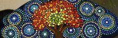 Tree Bookmark~ Printed and laminated Pointillism Tree ~ by Miranda Pitrone by P4MirandaPitrone on Etsy