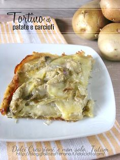 millefeuille of potatoes and artichokes with cheese No Salt Recipes, Wine Recipes, Vegan Recipes, Cooking Recipes, I Love Food, Good Food, Quiche, Recipe Mix, Muffins