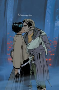 "Saga by Brian K Vaughan. ""I started out as an idea, but I ended up something more. Not much more, to be honest. It's not like I grow up to become some great war hero or any sort of all-important savior...but thanks to these two, at least I get to grow old."""