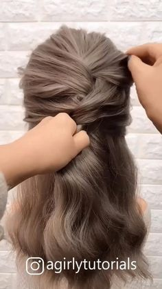 Step By Step Hairstyles, Easy Hairstyles For Long Hair, Easy Updos For Medium Hair, Bride Hairstyles, Lazy Girl Hairstyles, Bridesmaids Hairstyles, Short Hair Bun, Easy Hair Buns, Hair Down Hairstyles