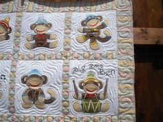 JUMPING MONKEY QUILT - Made by Sharon Morris - quilted by DLQ by DLQuilts, via Flickr