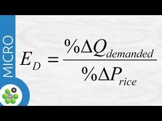Elasticity of demand is equal to the percentage change of quantity demanded divided by percentage change in price. Teaching Economics, Economics Lessons, Micro Economics, Cost Accounting, War On Drugs, Financial Literacy, Study Tips, Calculator, Investing