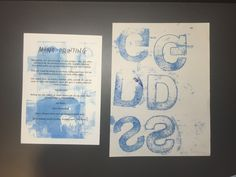 Week 2 of Printing Workshop- Mono Printing