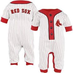 Red+Sox+baby | Majestic Boston Red Sox Infant White Pinstripe Coveralls ...