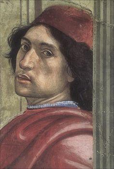 Domenico Bigordi | Ghirlandaio · Autoritratto · 1479-85 · Da Miracolo del fanciullo resuscitato · Cappella Sassetti · Basilica di Santa Trinita · Firenze