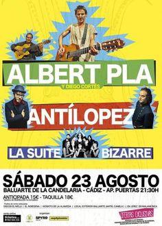 Entradas para Albert Plà + AnTíLoPeZ + La Suite Bizarre en Cádiz el 23 de agosto 2014 en notikumi