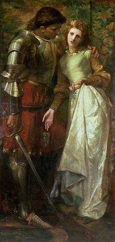 William Gorman Wills  Ophelia and Laertes 'Ophelia, here is Rosemary' etc..