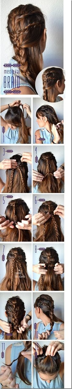 medieval braid - you will need someone to help you with this one