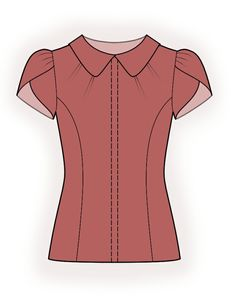 Blouse - Sewing Pattern #4379. Made-to-measure sewing pattern from Lekala with free online download.