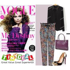 black and purple by walkthisland on Polyvore featuring tinydeal