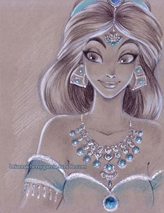 A stunning drawing of Jasmine by Brianna Cherry Garcia