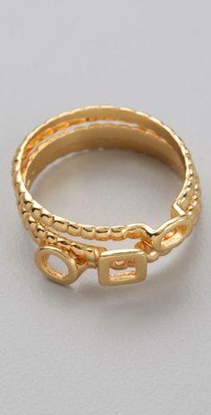 Gorjana Tress Stackable Rings  $58.00