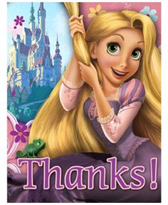 Tangled Party Thank You Cards