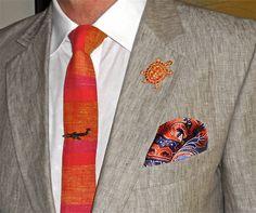 Strellson linen jacket, Ben Sherman shirt, Bill McMullen tie