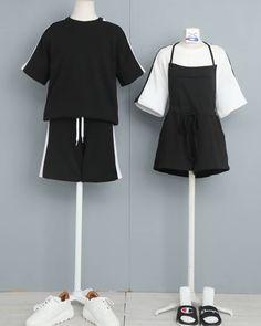 Fashion Couple, Teen Fashion Outfits, Edgy Outfits, Korean Outfits, Cute Casual Outfits, Punk Fashion, Fashion Dresses, Ulzzang Fashion, Harajuku Fashion