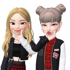Cute Cartoon Pictures, Cute Cartoon Girl, Cute Love Cartoons, Bff Pictures, Cartoon Art, Best Friends Cartoon, Friend Cartoon, Cute Love Images, Cool Emoji