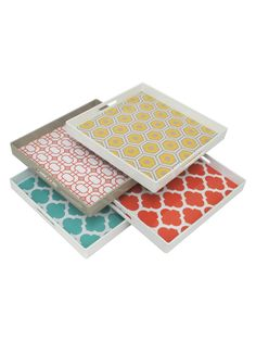 Assorted Trays (Set of 4) by Three Hands