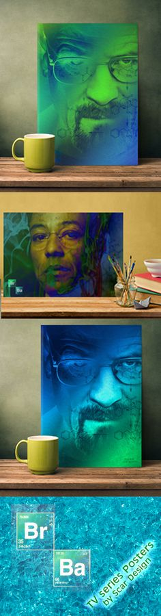 Breaking Bad TV series  Posters. Find them in the Movies Collection by Scar Design #breakingbad #BreakingBadPoster #buyposters #breakingbadposter #displate #TV #besttvseries #walterwhite #heisenberg #gifts #breakingbadfans #posters #metalposter