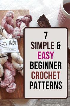 Easy Beginner Crochet Patterns, Tunisian Crochet Patterns, Easy Crochet Stitches, Crochet Stitches For Beginners, Beginner Crochet Projects, Crochet Basics, Crochet 101, Crochet Ideas, Free Crochet