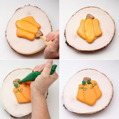 #thebearfootbaker #royalicingtransfers #royalicingleaves #candydecorations #edibleleaves #cookiedecorating #decoratedsugarcookies #cookiedecoratingtutorial #sugarcookiedecorating #edibleart #cookielove #sugarcookietutorial #decoratedcookies #sugarcookies #cookies #royalicing #cookieart #foodcrafting #cookiecrafting #cookietutorial #royalicingcookie #Cookies #thebearfootbaker #pumpkincookies #shiftcutters #housecookies Fall Cookies, Pumpkin Cookies, Gingerbread Cookies, Cute Pumpkin, Little Pumpkin, Royal Icing Cookies, Sugar Cookies, Cookie Countess, Onesie Cookies