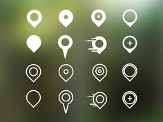 Pin Icon Set