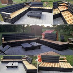 Wood Pallet Patio Lounge Corner Couch: Have a look at the wood pallet patio lounge corner couch and decide whether it is a good idea for your home or not. Diy Pallet Couch, Pallet Lounge, Pallet Patio Furniture, Outdoor Furniture Plans, Diy Couch, Outdoor Sofa, Outdoor Decor, Outdoor Bars, Outdoor Pallet Projects