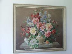 Large Retro Floral Board print